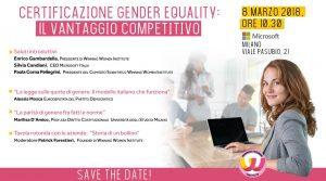 Certificazione Gender Equality 8 marzo